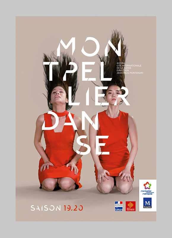 Affiche pour la saison 2019-2020 de Montpellier Danse