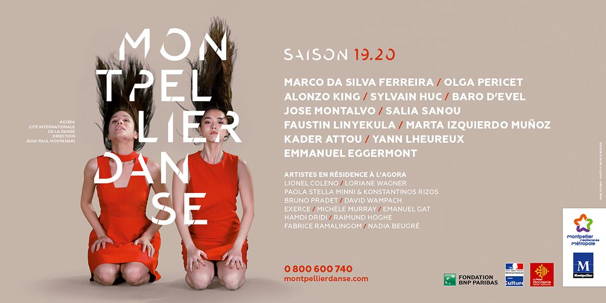 Travail typographique pour Montpellier Danse Saison 19.20